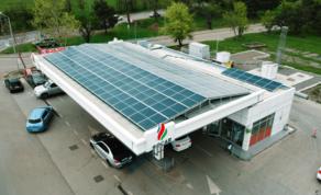 სოკარის ავტოგასამართ სადგურებზე მზის პანელები მონტაჟდება