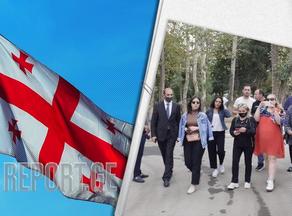 Группа журналистов из Грузии находится в Гяндже