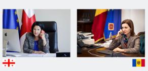 ზურაბიშვილი მოლდოვის რესპუბლიკის პრეზიდენტს ესაუბრა