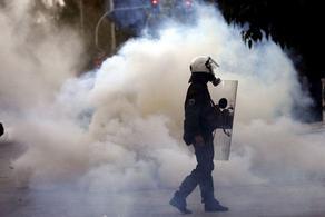 საბერძნეთში აქცია ცრემლსადენი გაზის გამოყენებით დაშალეს