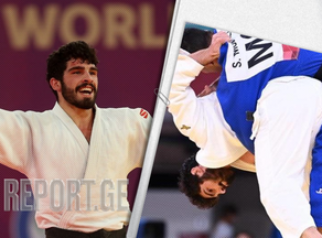 Tato Grigalashvili continues to fight for the bronze medal