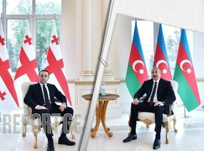 Ираклий Гарибашвили встретился с Ильхамом Алиевым - ФОТО