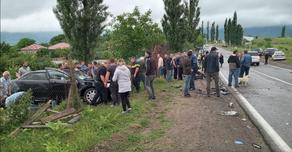საჩხერის სოფელ მერჯევთან ავარიის შედეგად 8 პირი დაშავდა
