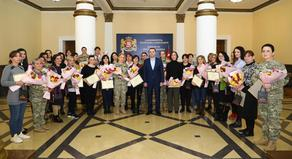 Minister of Defense congratulated the staff on Mother's Day