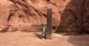 იუტას უდაბნოში აღმოჩენილი მონოლითი უეცრად გაქრა - VIDEO