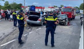 გონიოში ავარია მოხდა - ორი მსუბუქი ავტომობილი ერთმანეთს შეეჯახა