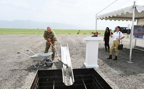 Ильхам Алиев заложил фундамент аэропорта в Зангилане