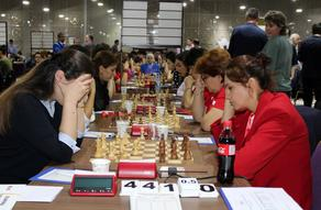 Georgian National Team of  women chess-players overplayed Romanians