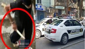 რუსთავში მამაკაცი მოქალაქეებს დანით ემუქრებოდა - ყელს გამოგჭრი და მოგკლავო - VIDEO