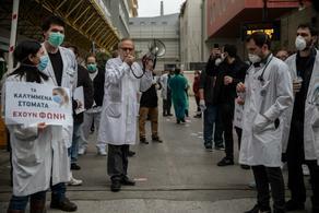 საბერძნეთში ექიმების საპროტესტო აქცია გაიმართა - PHOTO