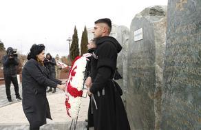 Президент Грузии почтила память юнкеров
