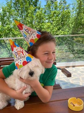 ნიკა მელია შვილის ოთხფეხა მეგობარს დაბადების დღეს ულოცავს