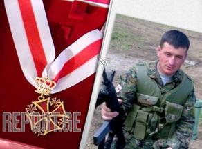 Герой Шиндиси Александр Ониани награжден орденом Национального героя Грузии