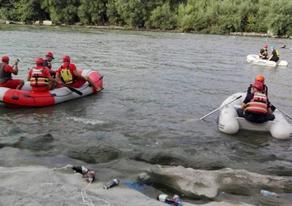 Search operation in Alazani river