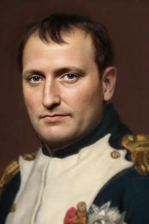 Photographer restored a portrait of Napoleon