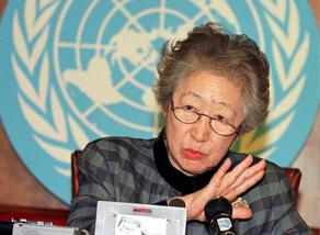Sadako Ogata former UN High Commissioner for Refugees died