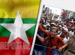 Беспорядки в Мьянме - погибли 12 человек