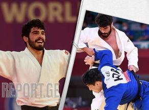 Tato Grigalashvili in the quarterfinals of the Olympics