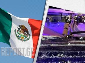 მექსიკაში ორი ავტობუსის შეჯახების შედეგად 16 ადამიანი დაიღუპა