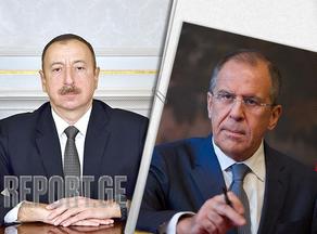 Ilham Aliyev hosts Sergey Lavrov