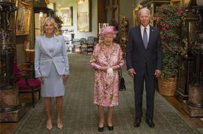 დიდი ბრიტანეთის დედოფალმა ჯო ბაიდენს და მის მეუღლეს უმასპინძლა - PHOTO
