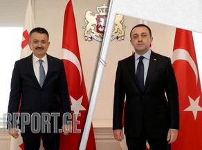 Ираклий Гарибашвили встретился с министром сельского хозяйства Турции