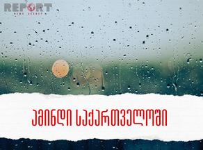 წვიმა და ნისლი - ამინდი დღეს