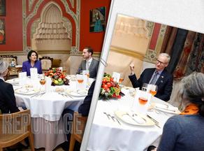 President Zurabishvili hosting Danielsson at Orbeliani Palace  - PHOTO