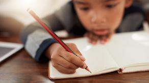 What happens to child's brain when handwriting?