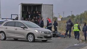 Police find 41 people alive in refrigerated truck in Greece