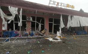 Armenian Armed Forces drop shell on another civilian facility in Tartar - PHOTO