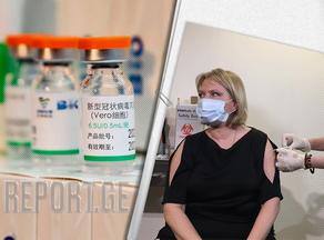 ნათია თურნავა კორონავირუსის საწინააღმდეგო ვაქცინით აიცრა - VIDEO