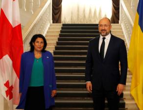 Президент Грузии встретилась с премьер-министром Украины