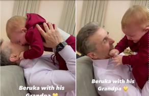 ბიძინა ივანიშვილი შვილიშვილთან ერთად - VIDEO