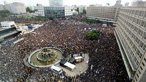 В Берлине на акции протеста пострадали полицейские