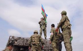 В селе Шелли Агдамского района поднят азербайджанский флаг