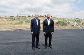 Ильхам Алиев встретил Реджепа Тайипа Эрдогана в Физулинском районе